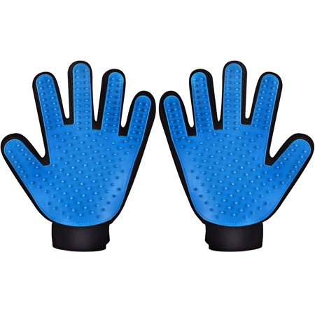 VicTsing Pet Grooming Glove Brushes, Deshedding Tool, for Removing Pet Shedding Hair, Pet Massage and Bathing Brush or Comb, for Dogs, Cats, Horses( One Pair, for Left and Right Hands ) ()
