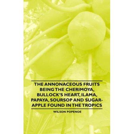 The Annonaceous Fruits Being the Cherimoya, Bullock's Heart, Ilama, Papaya, Soursop and Sugar-Apple Found in the Tropics - - Fruit Papaya