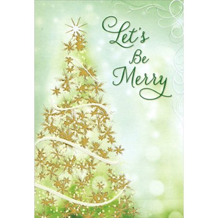 Designer Greetings Sparkling Tree - Package of 8 Christmas Party Invitations - Christmas Party Invitation