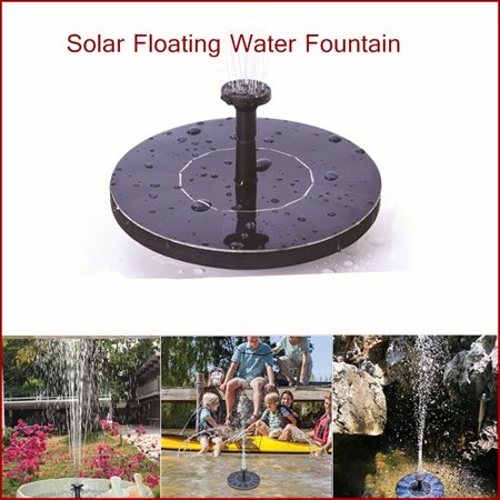 Floating Garden (Mini Solar Floating Water Fountain for Garden Pool Pond Decoration )