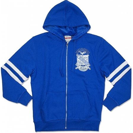 Phi Beta Sigma Divine 9 Mens Zip-Up Hoodie Jacket [Royal Blue - M] Blue Zip Hooded Sweatshirt