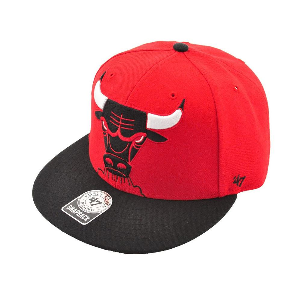 47 Brand Boys 8-20 NBA Chicago Bulls Snapback Hat Cap (Red One...