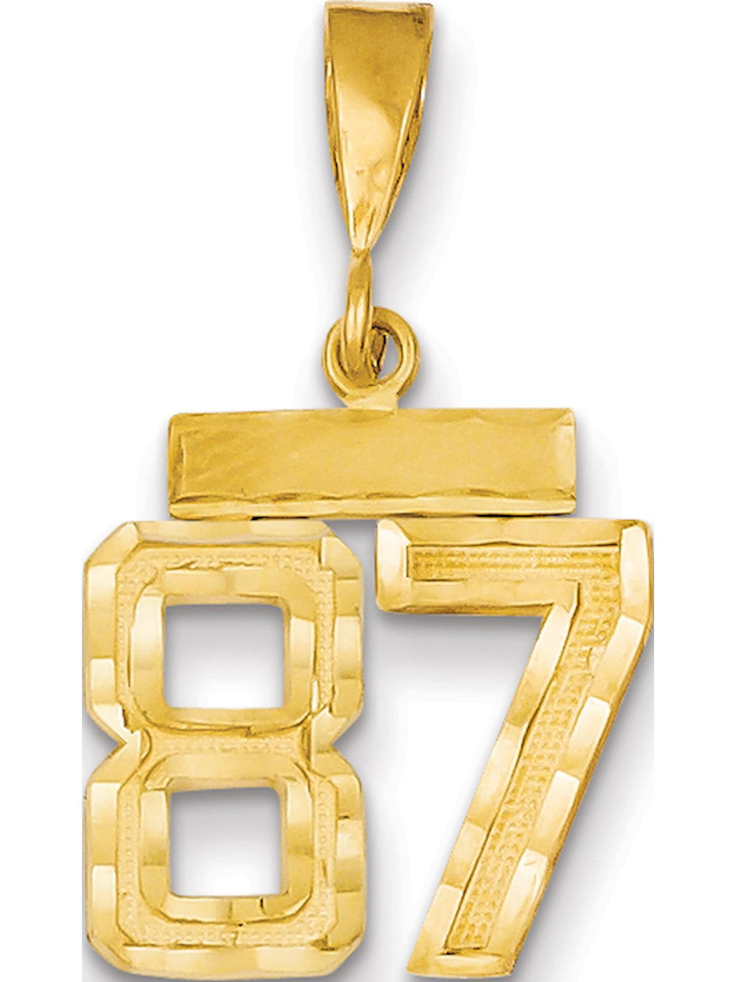 14K White Gold Guitar Charm Pendant MSRP $173