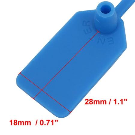 30pcs 230mm Length Nylon Self-Locking 18mm x 28mm Label Cable Tie Zip Blue - image 1 of 2