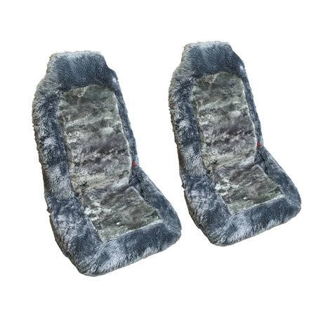 Premium Genuine Sheepskin Auto Seat Cove Front Car Seats (Two Seat Covers,