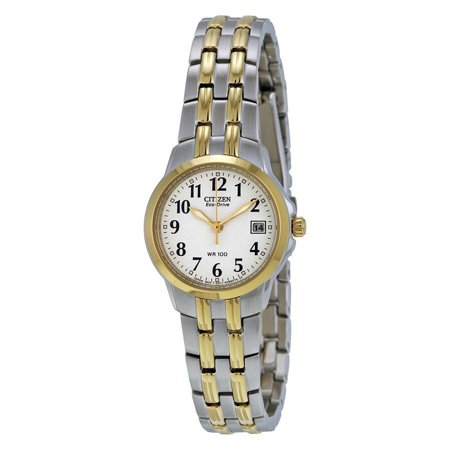 Citizen Eco Drive Stainless Steel Watch - Citizen Eco-Drive Women's EW1544-53A Silhouette Two-Tone Stainless Steel Watch