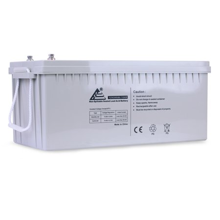 ExpertPower BLMFM12_200 XP-4D Solar Wind Power AGM Sealed Lead Acid Battery (12V 200Ah 10 Hour rate (220Ah/ 20 hour rate) 2400 W (Best Rated Auto Battery)