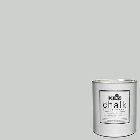 KILZ Chalk Style Decorative Paint, 1 quart (Best Light Grey Paint)