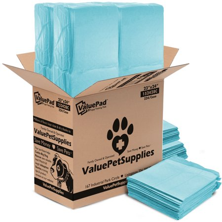 ValuePad Puppy Pads, Medium 23x24 Inch, 224 Count - Economy Training Pads for Dogs, Leak Resistant 5-Layer Design, Perfect for Puppies, Smaller Dogs & Even Litter Boxes