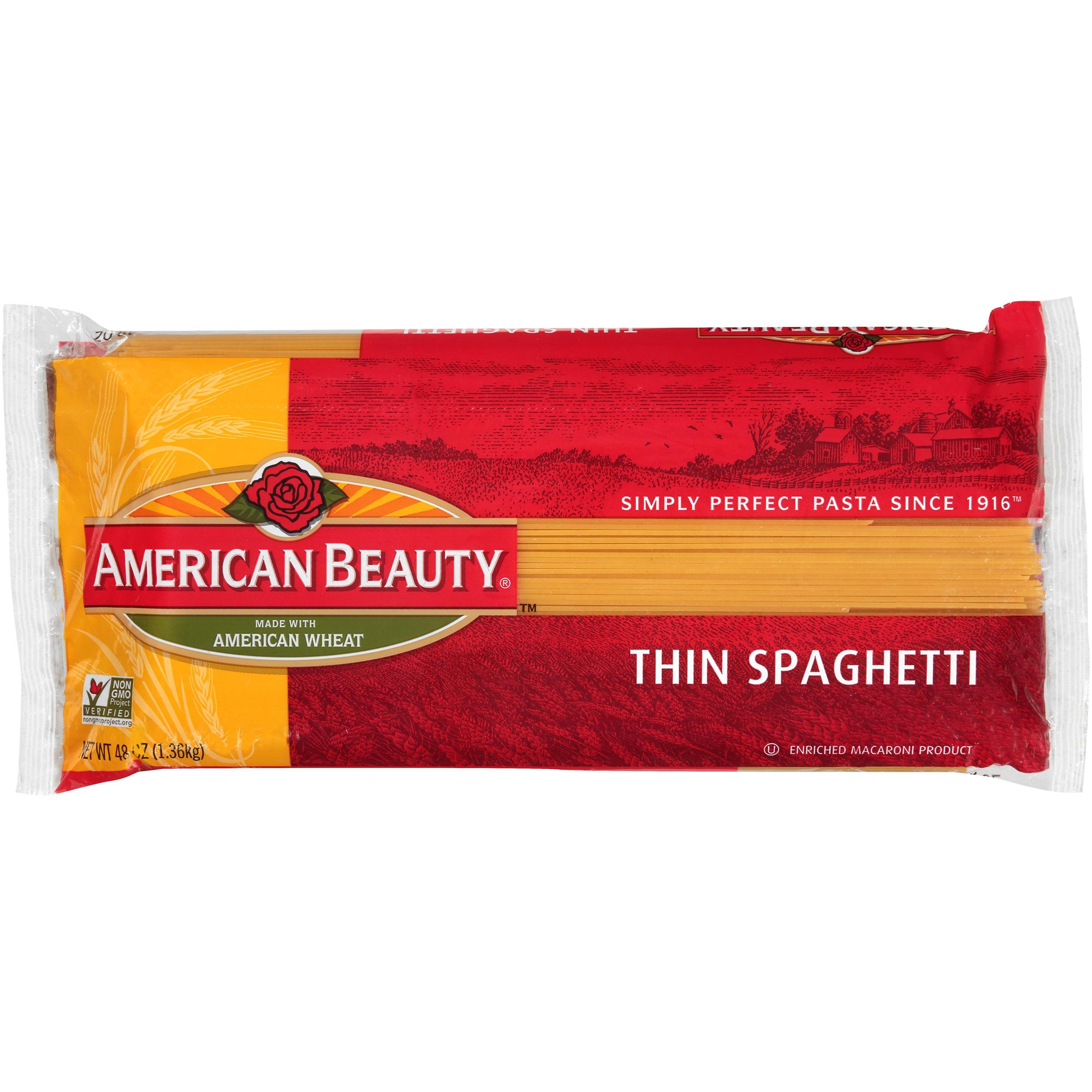 American Beauty   Thin Spaghetti  48 Oz Bag