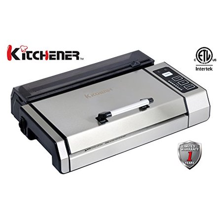 Halloween Store Kitchener (Kitchener 55023006 Automatic Fresh Food Saver Commercial Grade Vacuum Sealer with Starter Roll, 11