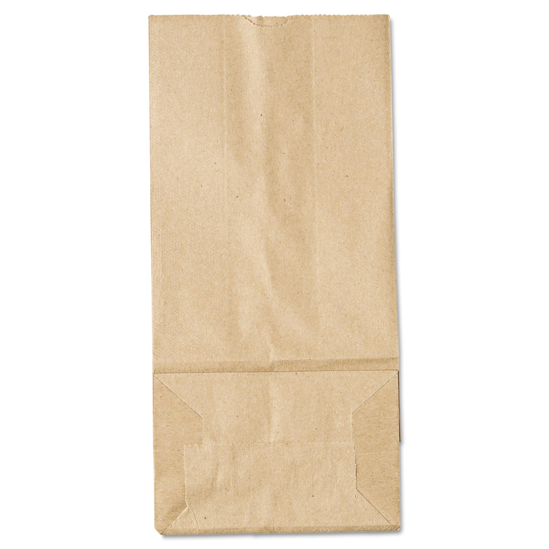 General #5 Paper Grocery Bag, 35lb Kraft, Standard 5 1/4 x 3 7/16 x 10 15/16, 500 bags