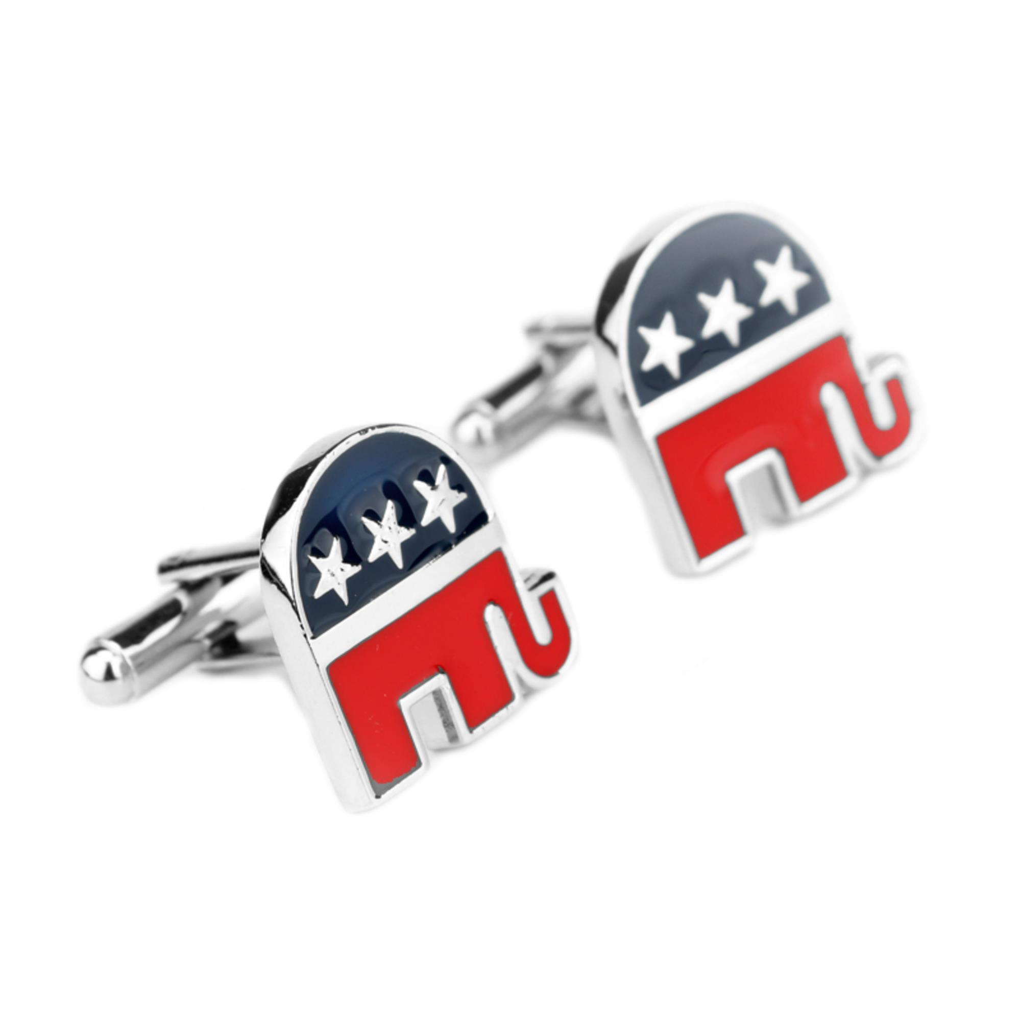 Superheroes Politics Republican Elephant Logo Church Cufflinks