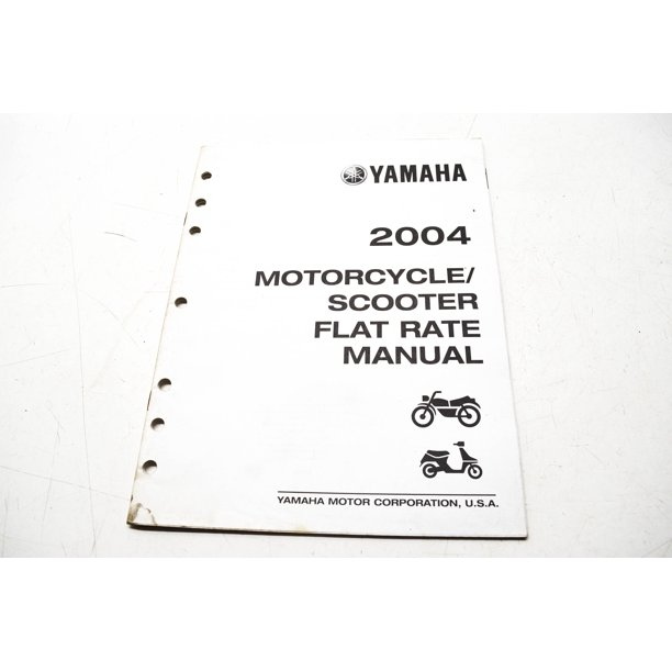 OEM Yamaha LIT-11750-00-04 Manual 04 Motorcycle/Scooter