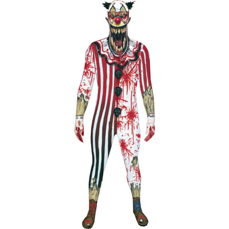 Morph Jaw Dropper Clown Adult Halloween Costume (Morphsuit Clown)