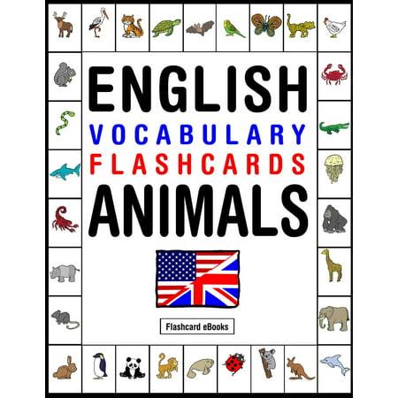 English Vocabulary Flashcards: Animals - eBook (English Vocabulary Cards)