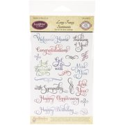 """JustRite Papercraft Clear Stamps 4""""X6""""-Large Fancy Sentiments"""