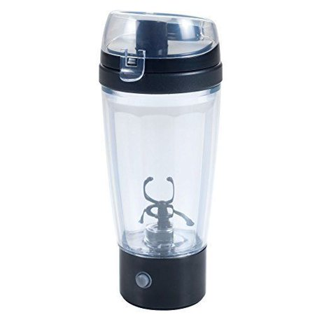 Cyclone Cup Power Mix, 18 oz Shaker Bottle for Coffee Juice Protein Powder and More, Portable Lightweight Liquid Container for Sport and Travel, AAA Battery Operated Transparent BPA FREE,