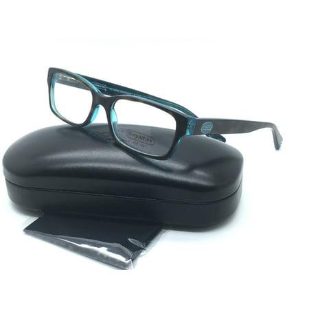8645fb852b1 Coach Women Tortoise Square New Eyeglasses HC 6040 Teal Brooklyn 5116 50  Plastic - Walmart.com