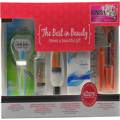The Best in Beauty Allure Award-Winners Gift Set with Bonus Free Magazine Subscription. Value $28.00