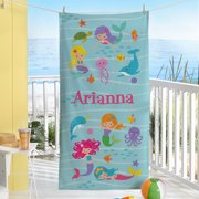 Personalized Mermaid Escape Beach Towel