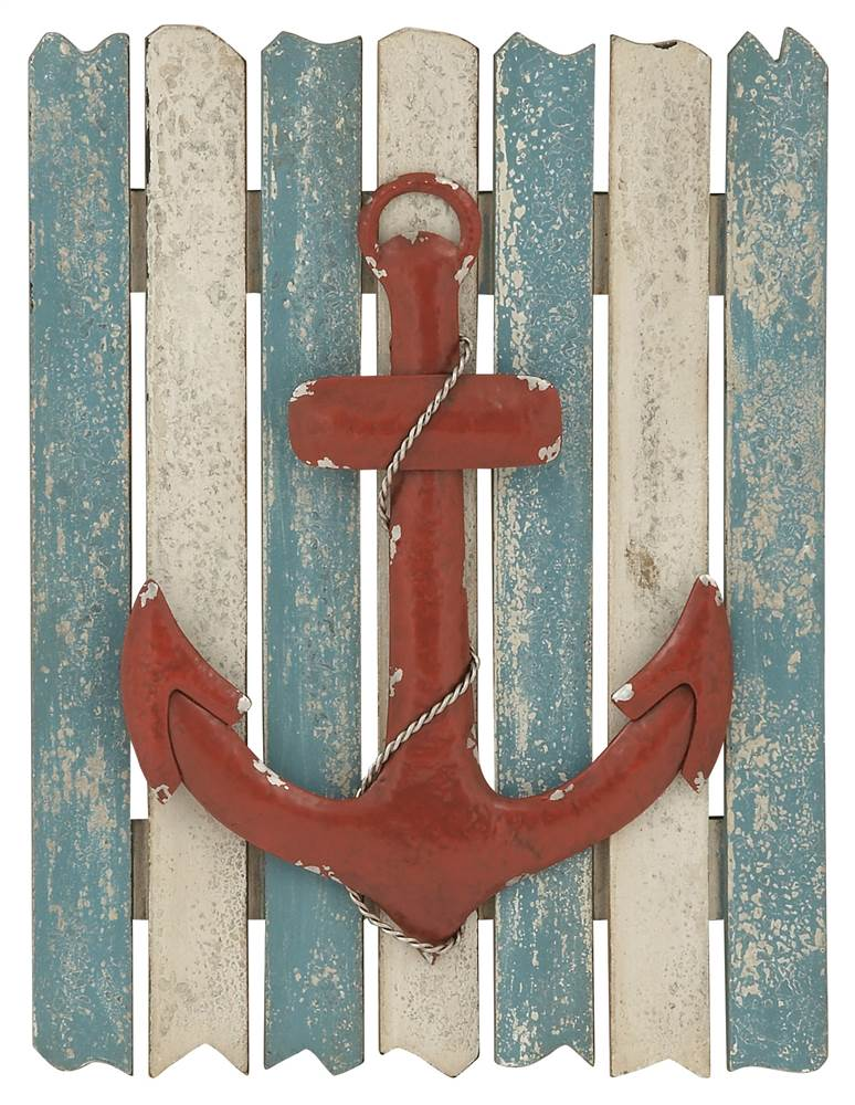 Anchor Themed Lovely Wall Plaque by Benzara Inc