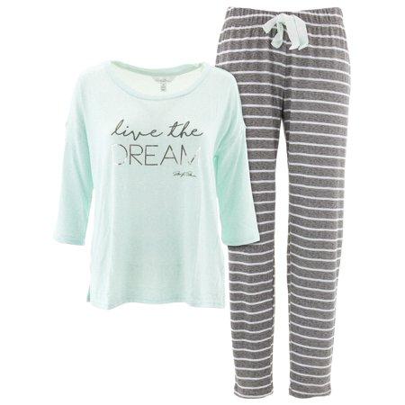 Aqua Pajamas - Marilyn Monroe Women's Live The Dream Aqua Pajamas