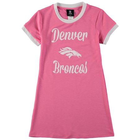 Pinks Denver (Denver Broncos Girls Toddler Yardline Ringer Dress -)
