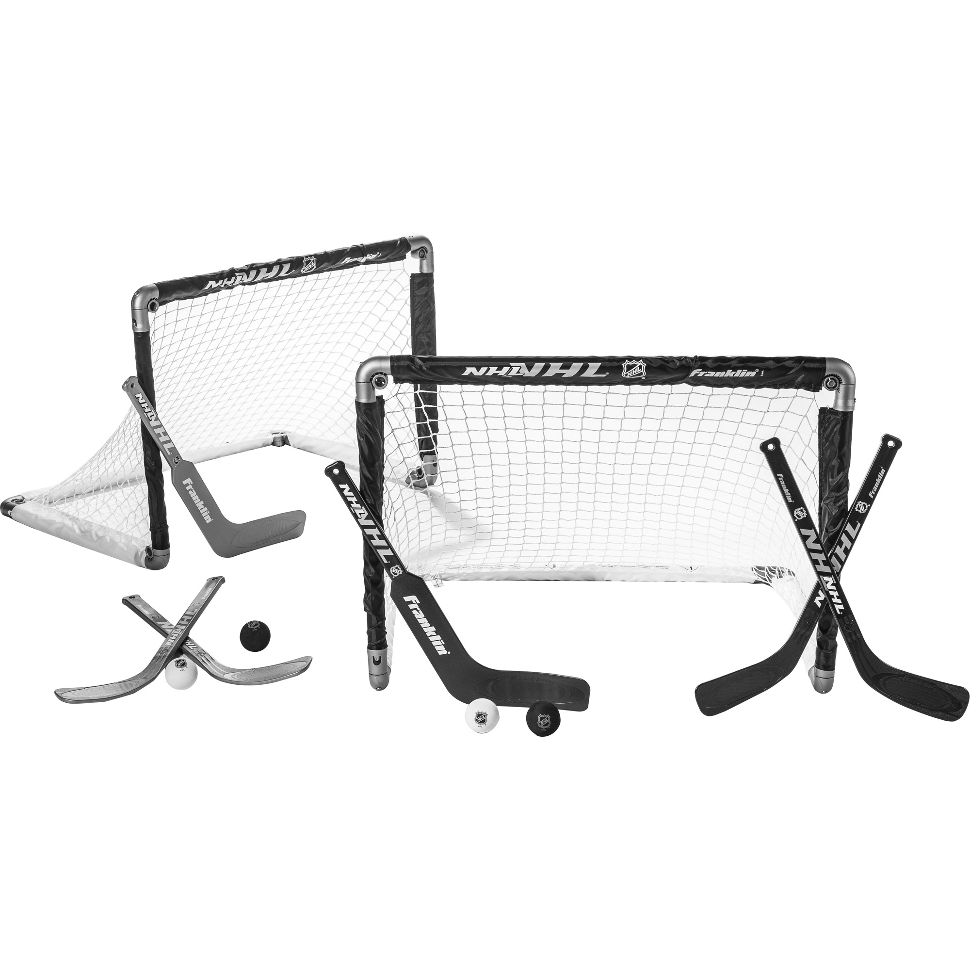 Franklin Sports Insta-Set Mini Hockey 2-Goal Set