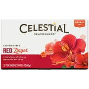 Celestial Seasonings Tea Caffeine Free Herbal Tea, Red Zinger 20 ea (Pack of 2)