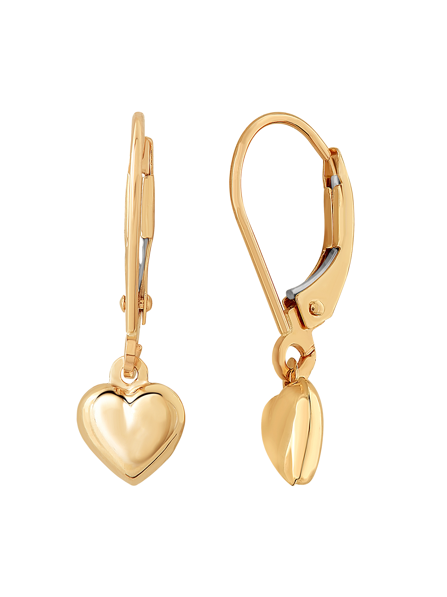 Simply Gold™ 10kt Yellow Gold Heart Earrings