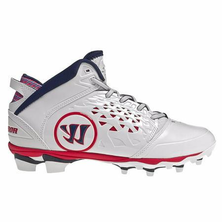 Warrior ADONIS99 Mens Adonis Lacrosse Cleats White red Blue 11.5 (Best Mens Lacrosse Cleats)