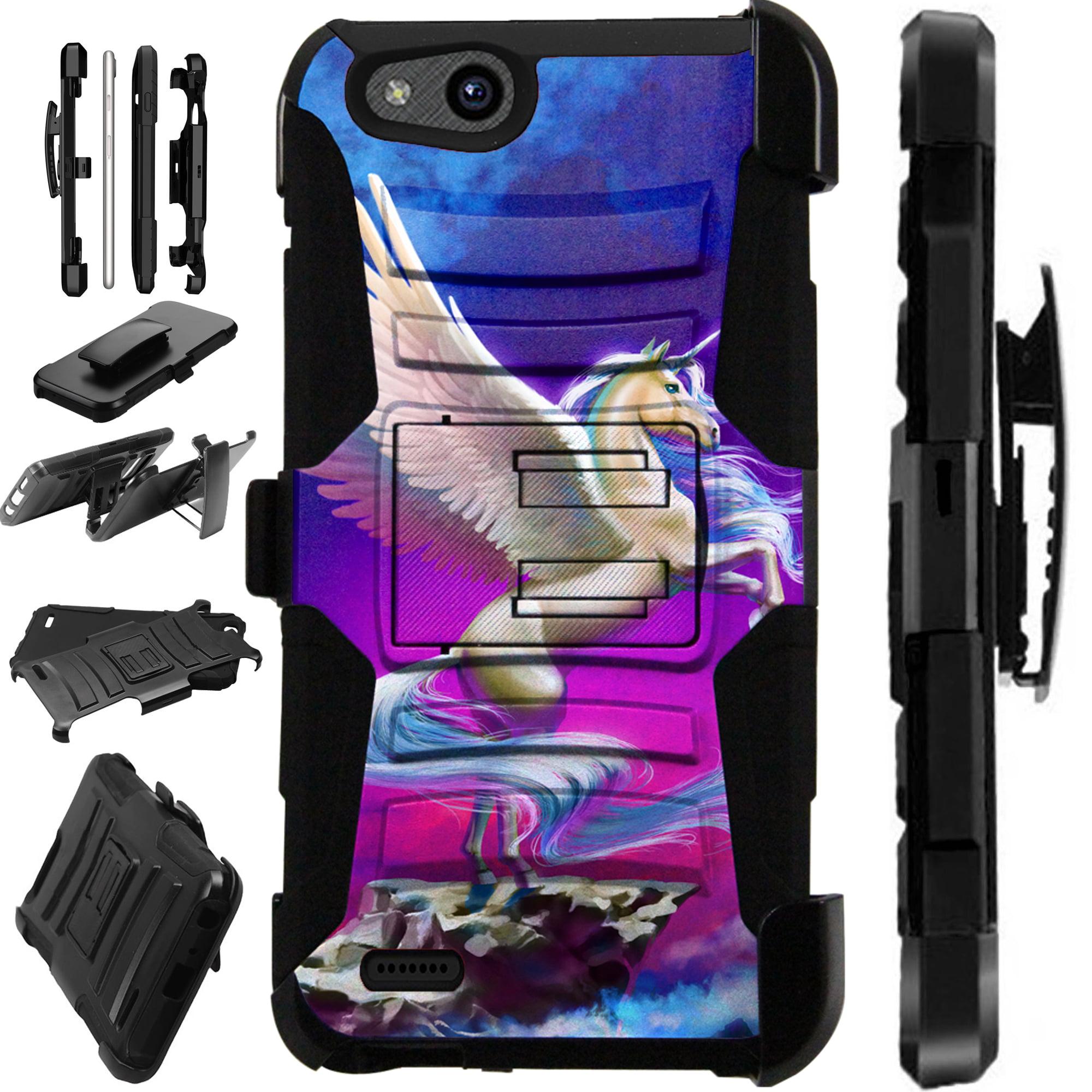 For ZTE Tempo X | Tempo Go | Avid 557 | ZFive G C | Fanfare 3 | Avid 4 | Blade Vantage Case Hybrid Phone Cover LuxGuard