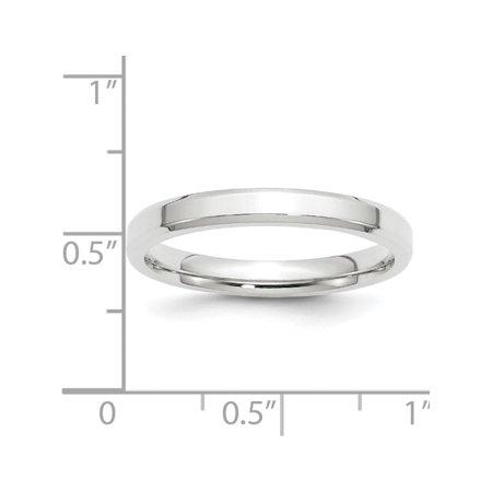 USA - 14k White Gold 3mm Bevel Edge Comfort Fit Band Size 4 - image 4 de 4