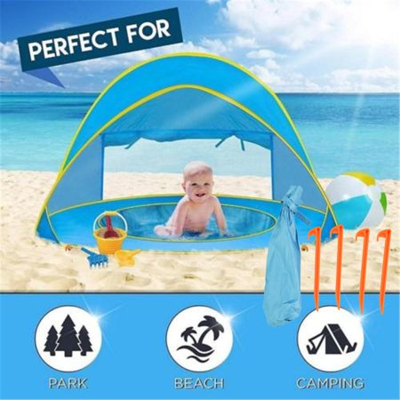 Image of LHCER Portable Tent,Ymiko Portable Infant UV Protection Baby Beach Tent Waterproof Shade Pool Sun Shelter,Tent,Baby Tent