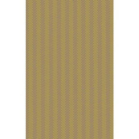 3.25' x 5.25' Primitive Chevron Olive Green and Sandy Beige Area Throw Rug (Primitive Font)