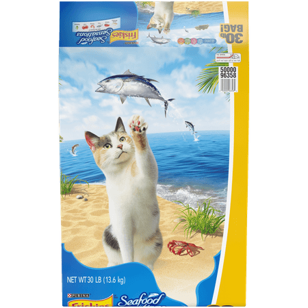 Friskies Dry Cat Food, Seafood Sensations - 30 lb.