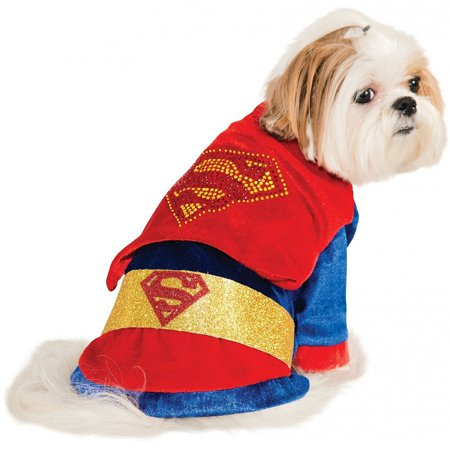 Cuddly Superman Pet Pet Costume - X-Small