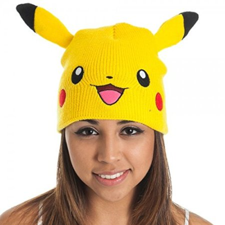 Beanie Cap - - Pikachu w/Ears Anime Hat Cosplay New Toys kc1b7spok](Pikachu Hat)