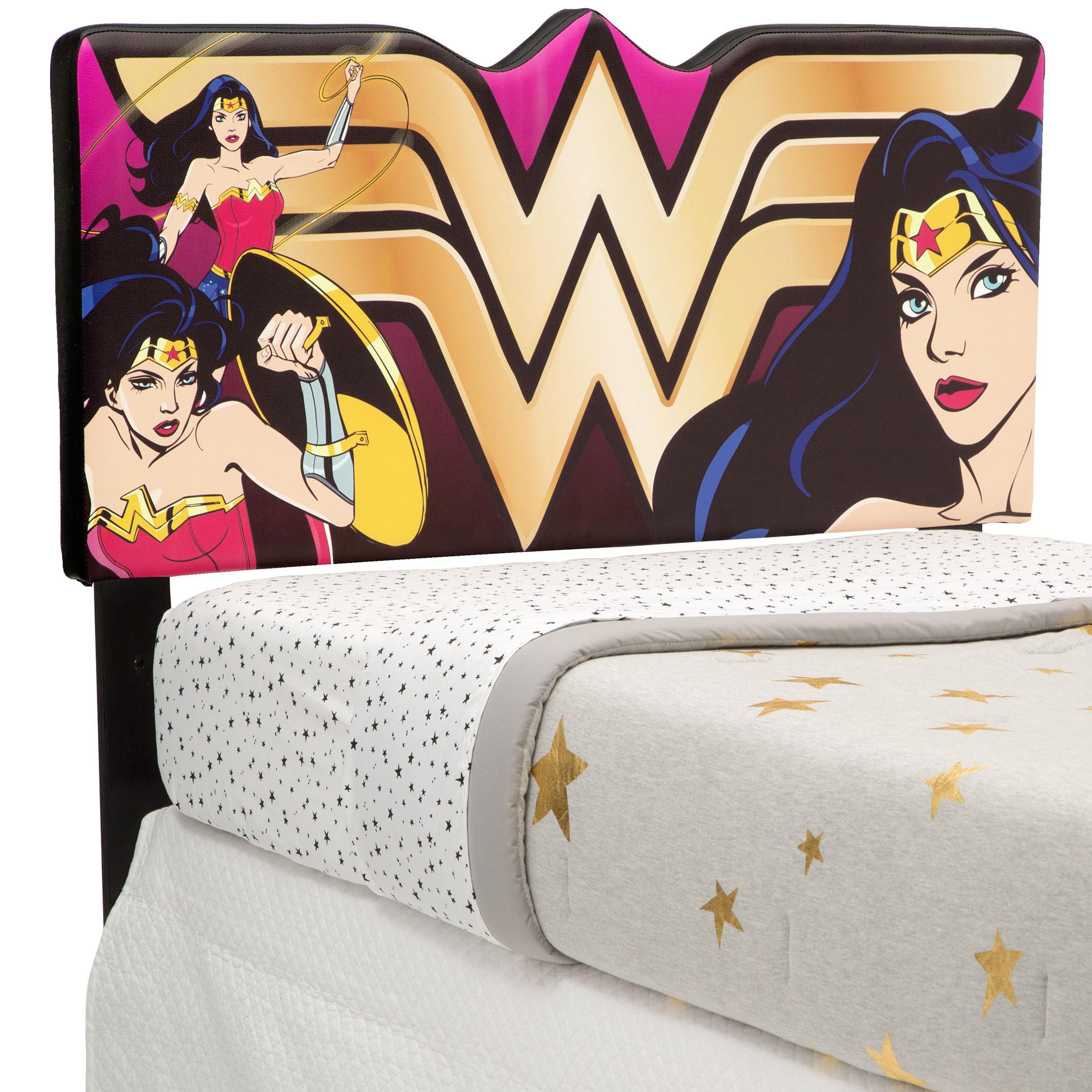 DC Comics Wonder Woman Upholstered Twin Headboard by Delta Children