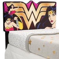 Delta Children DC Comics Wonder Woman Upholstered Headboard, Twin, Red