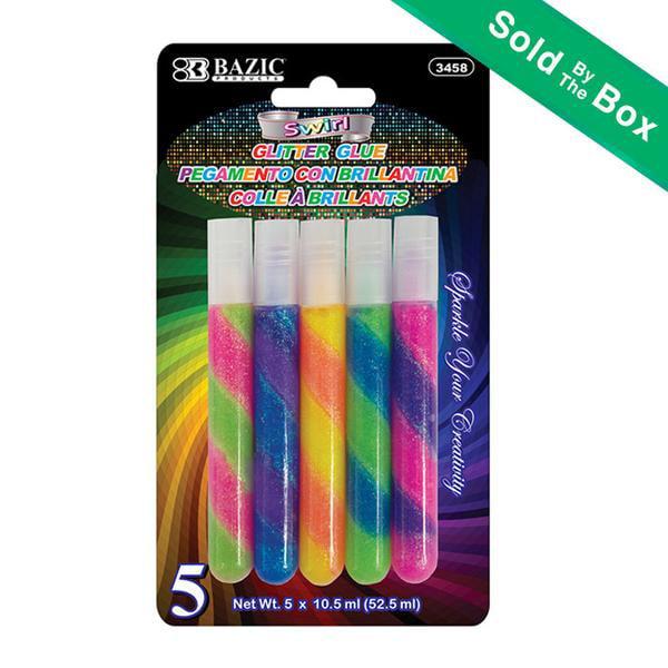 BAZIC 10.5 ml Swirl Glitter Glue (5/pack)(Pack of 24 )