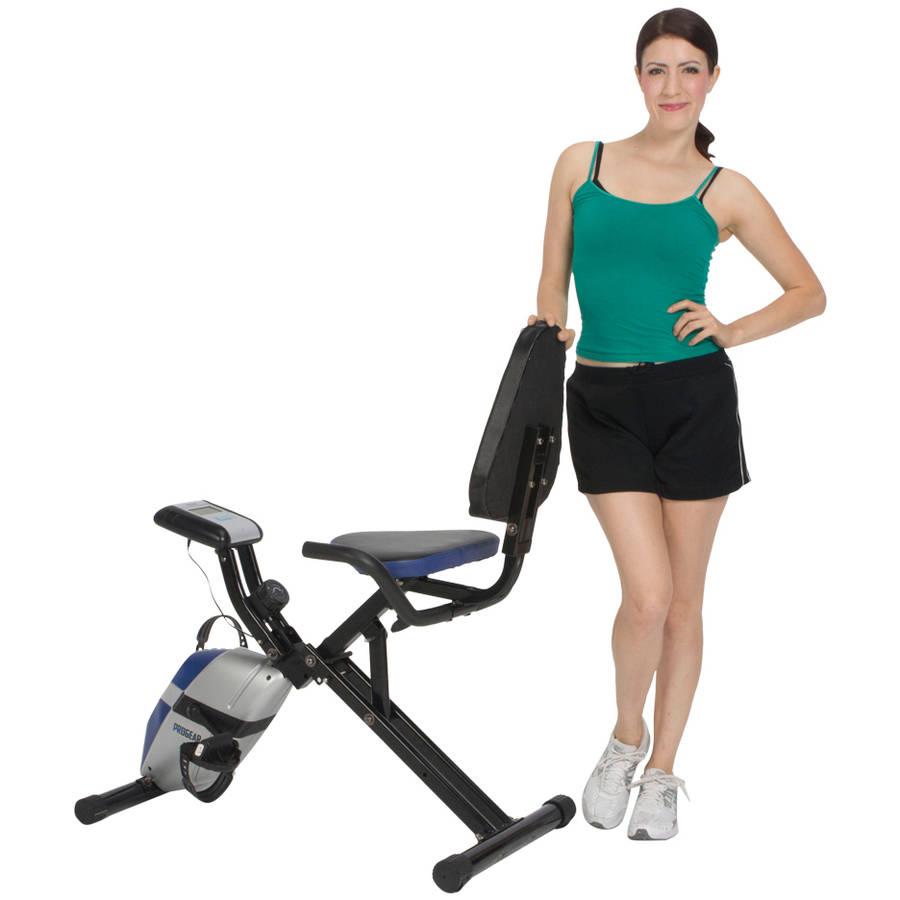 ProGear 190 Folding Recumbent Exercise Bike with Heart Pulse