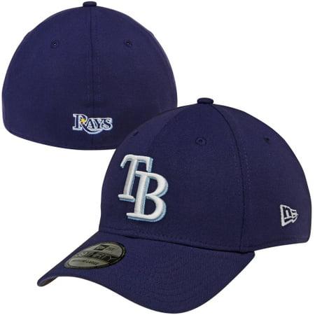 New Era Tampa Bay Rays MLB Team Classic 39THIRTY Flex Hat - Navy (Bday Hat)