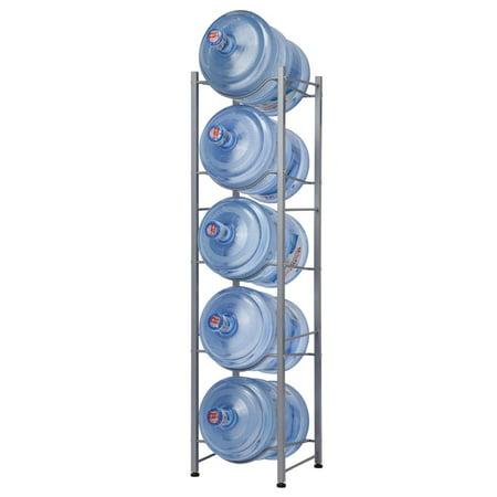 Ktaxon 5 Tier Stainless Steel Heavy Duty Water Cooler Jug Rack, Silver