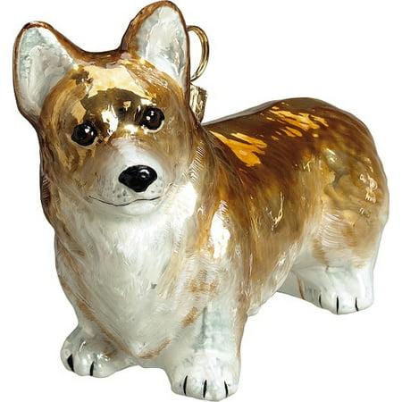 Pembroke Welsh Corgi Dog Polish Blown Glass Christmas Ornament Decoration Poland