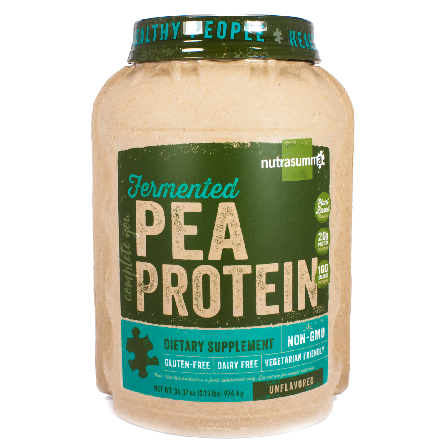 Fermented Pea Protein Unflavored By Nutrasuma - 34 Ounces