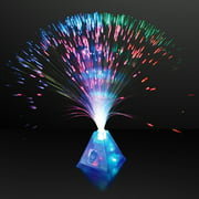 FlashingBlinkyLights Fiber Optic Pyramid Centerpiece Light