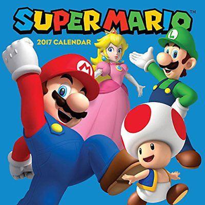 Super Mario 2017 Wall Calendar, Nintendo Calendar 2016
