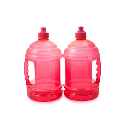 2 Bpa Free Water Bottles H2o On The Go Drink Gym Canteen Container Colors 74 Oz